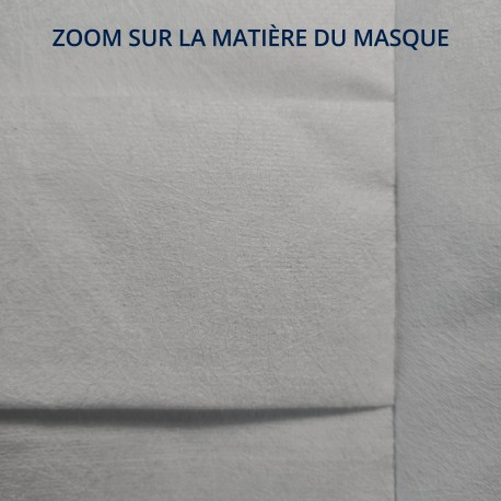 Masque en tissu grand public filtration supérieure à 90% - Petite taille - Motif Surf - Lot de 2