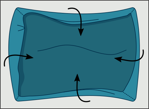 Plier son drap housse seul : Etape 1